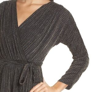 Chelsea28 Glitter High-low Wrap Dress